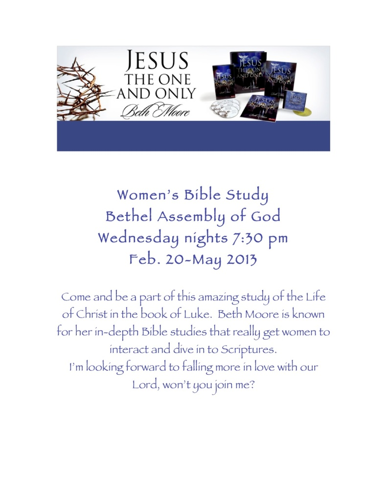 Jesus One and Only Women's Bible Study