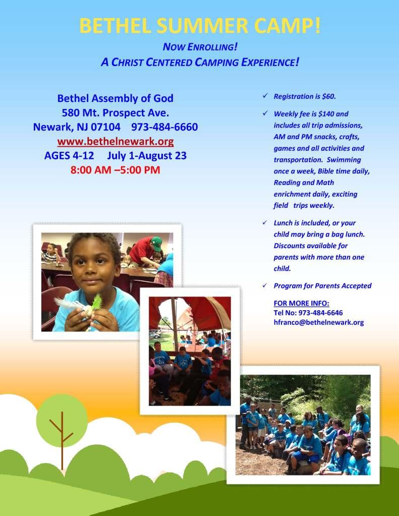 Bethel Summer Camp 2013 Now Enrolling!