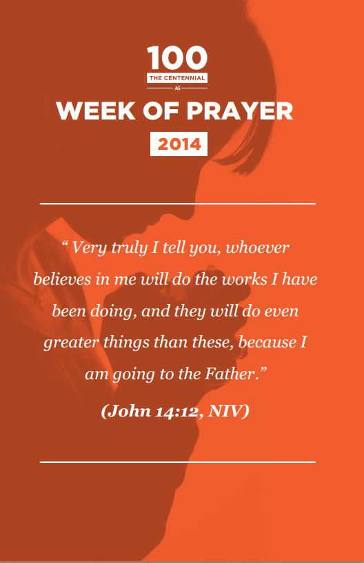 Week of Prayer - January 5 through January 11th