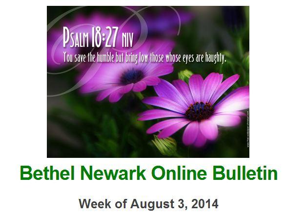 Bethel Bulletin Snip
