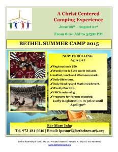BETHEL SUMMER CAMP 2015
